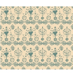 Seamless vintage retro abstract hand-drawn floral vector image