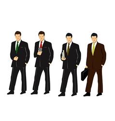 Set of businessmen vector image