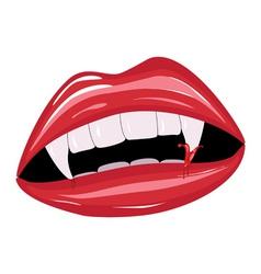 Vampire mouth2 vector