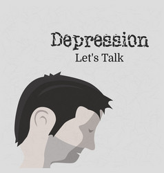 world health day on theme depression let s talk vector image