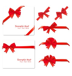 big set of red gift bows vector image vector image