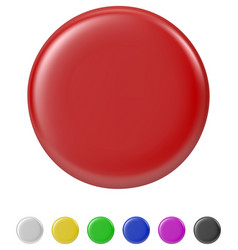 button badge set vector image