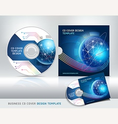 Cd cover design template Abstract background vector image
