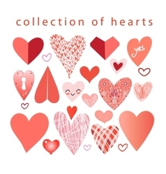 collection of hearts vector image vector image