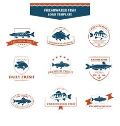 Perfect set of fish logos vector image vector image