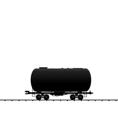 petroleum cistern wagon freight railroad train bla vector image vector image