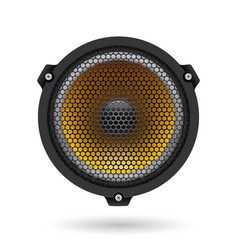 realistic speaker on white for design vector image vector image