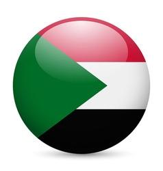 Round glossy icon of sudan vector image vector image