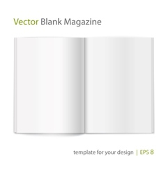 Blank magazine on white background Template vector image vector image