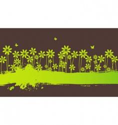 blot flowers vector image