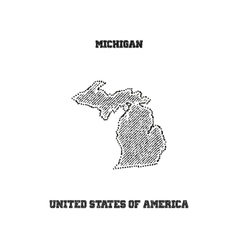 Label with map of michigan vector image vector image