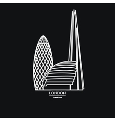 London Icon Outline 1 vector image