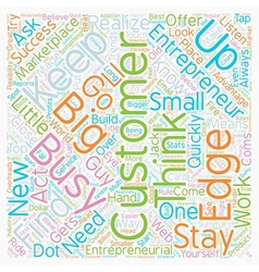 The Entrepreneurial Edge text background wordcloud vector image vector image
