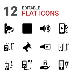 12 mp3 icons vector