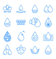 A set icons water drop vector
