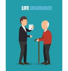 Agent insurance health elderly design vector