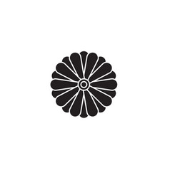 aster flower black concept icon aster vector image