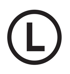 Basic font letter l icon design vector