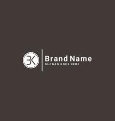 Bk minimal logo - template vector