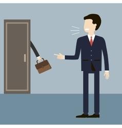 Boss Dismissal Employee vector image