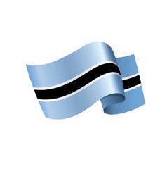 botswana flag vector image