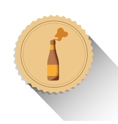 bottle beer drink alcohol label shadow vector image