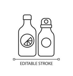 branded water bottle linear icon vector image