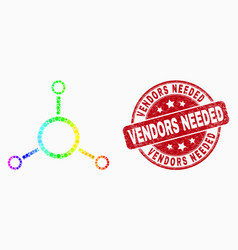 bright dotted masternode links icon and vector image