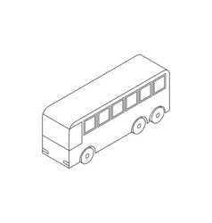 Bus icon isometric 3d style vector