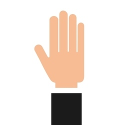 businessman hand isolated icon design vector image