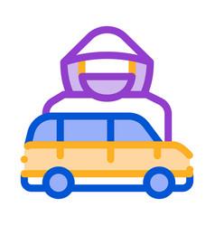 car driver logo icon outline vector image