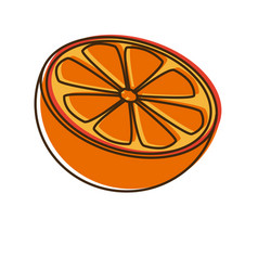 Citrus orange fruit vitamins nutrition health food vector