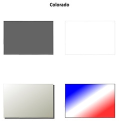Colorado outline map set vector image
