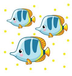 Colorful sea fish vector