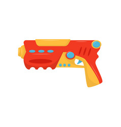 Colorful toy gun weapon pistol for kids game vector