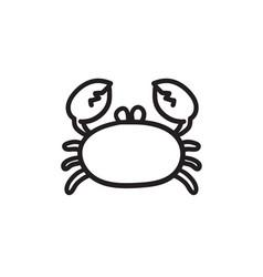 Crab sketch icon vector