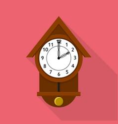 Cuckoo clock icon flat style vector