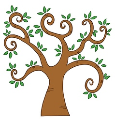 Curly Branched Tree vector image
