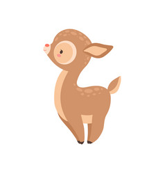 Cute badeer adorable forest fawn animal side vector
