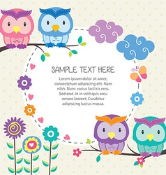 Cute childrens design element vector