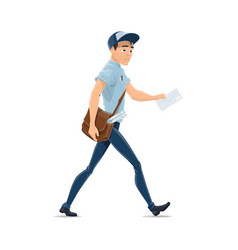 delivery man isolated postman vector image