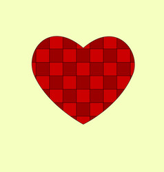 design elements for valentine s day a heart of vector image