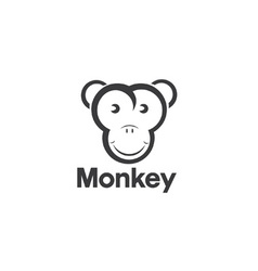 Design template of an monkey vector