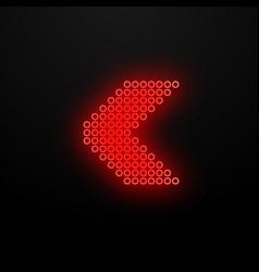 direction arrow neon light vector image
