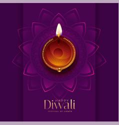 Diwali diya top view beautiful background vector