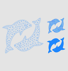 Dolphins mesh network model and triangle vector