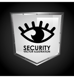 eye shield vector image