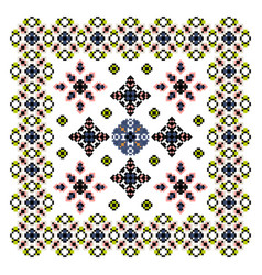 fair isle style embroidered frame border swatch vector image