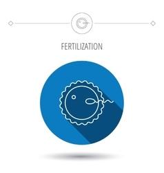 Fertilization icon Pregnancy sign vector