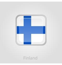 Finland flag button vector
